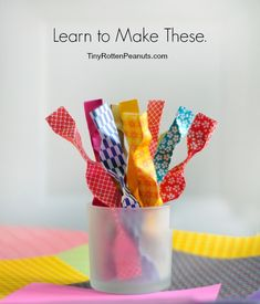 Paper Fortunes - really easy little pinched paper fortunes