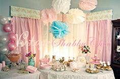 My daughter's Vintage Shabby Chic 1st Birthday Party