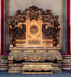 Dragon throne at the Imperial Palace, GuGong (Forbidden City, Zijincheng), Beijing