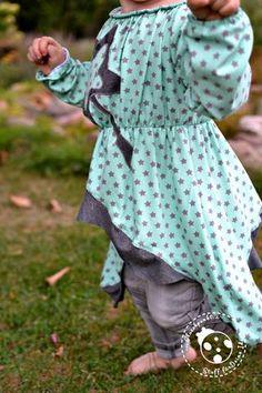 eBook - Kinder - Alessa - Tunika - Kleid - Designersweek - drei eM's - Monatsangebot - Sterne - Karma - Meterware günstig - SALE - Glückpunkt.