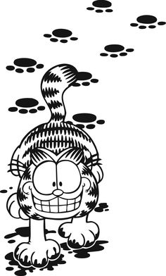 This picture, would make a good tattoo. Gato Garfield, Garfield Cartoon, Garfield Comics, Garfield Quotes, Cartoon Cats, Cartoon Shows, Cartoon Characters, Wallpeper Tumblr, Silhouette Portrait Projects