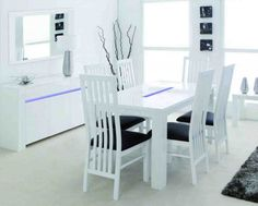 White Dining Table Chairs - Home Furniture Design
