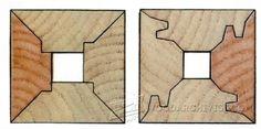 3793-Four-Sided Quartersawn Table Legs