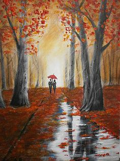 Autumn rain by Alan Brunt