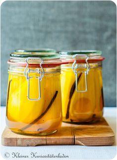 Safran-Vanille-Birnen, eingeweckt