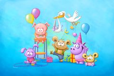 Blue Baby Party by Tooshtoosh