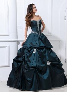 adb7d9b529a Taffeta Beading Ruffle Applique Shoulder Straps Ankle Length Quinceanera  Dresses