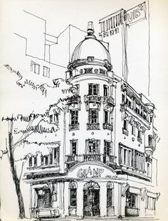 Urban Sketchers Vietnam Grand Hotel - Since 1930, phía sau là Grand Hotel của SG những năm 2011 - Tap the link to shop on our official online store! You can also join our affiliate and/or rewards programs fo