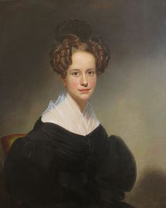 This lady, although from a different era, looks like my vision of Phoebe 'Portrait of Laura Colton Chapin' by William Sidney Mount, High Museum. Historical Art, Historical Clothing, Female Portrait, Portrait Art, Historical Hairstyles, Victorian Portraits, High Museum, Victorian Hairstyles, Portraits From Photos