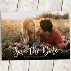Save the Date Template with Photo Card Photoshop Template Photographers Wedding Photography PSD Rustic Postcard Photo Collage Save the Date - Wedding Save the Date Card, Save the Date Photo Card, Save the Date Template with Photo – Photosh - Engagement Picture Props, Fall Engagement Shoots, Unique Engagement Photos, Engagement Photo Outfits, Engagement Couple, Motorcycle Engagement Photos, Fishing Engagement Photos, Engagement Humor, Wedding Card Wordings