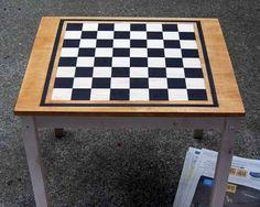 diy checker board table- want it!