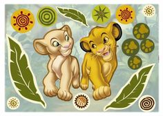 Poze Sticker de perete pentru copii Simba si Nala