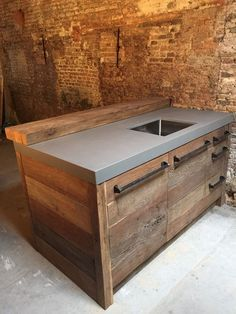Top Kitchen Interior Design and Furniture – Ute Weinhold – Top Kitchen I… – branden rodriquez 935 - Decoration Concrete Kitchen, Wooden Kitchen, Rustic Kitchen, New Kitchen, Kitchen Decor, Industrial Kitchen Design, Modern Kitchen Design, Interior Design Kitchen, Industrial Kitchens