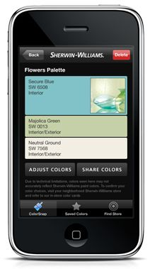Use your smart phone to match real-world colors with paint colors. Good job on this branded utility Sherwin-Williams!