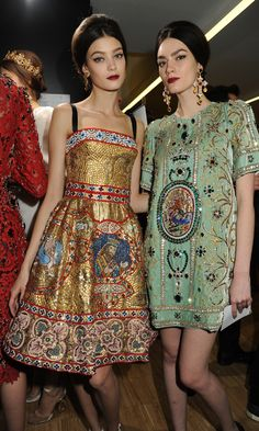 Dolce & Gabbana Woman Runway Backstage - Fall Winter 2014 Collection