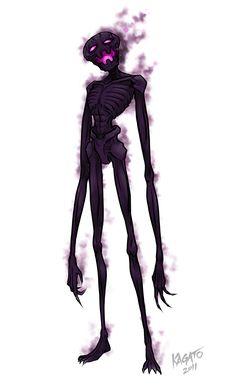 Enderman   Enderman by StudioKagato....... looks more like a skeleton