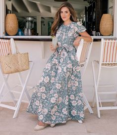 070e4ca2d78c Gal Meets Glam Collection Shannon Floral Print Puff Sleeve Tie Waist Maxi  Dress