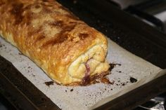 Traditional English Baked Jam Roly Poly Pudding