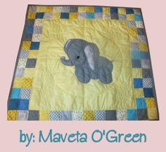 Stuffies Ellie the Elephant Baby Quilt | oh my goodness. how adorable is that little elephant! :)