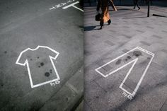 Simple and cheap as shit idea for K2r stain remover executed in Paris. | 10 More Of The Coolest Unconventional Ads