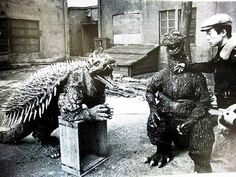 Behind the scenes on Gigantis the Fire Monster, aka Godzilla's Counter Attack (1955)