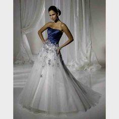 Blue and White Wedding Dresses Strapless White and Blue Wedding Gowns . Teal Dress For Wedding, Silver Bridesmaid Dresses, 2016 Wedding Dresses, White Wedding Dresses, Wedding Gowns, Wedding Blue, Blue Dresses, Dresses 2016, Dresses Dresses