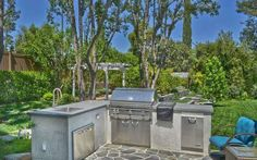 Pin for Later: Iggy Azalea Just Snagged Selena Gomez's SoCal Mansion  A built-in barbecue center is ideal for hosting Summer parties. Source: The Agency