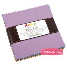 New Dusty Kona Cotton Solids Charm PackSKU# CHS-136-41 - Charm Packs & Squares | Fat Quarter Shop
