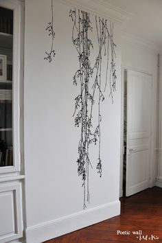 Murmures © & variations – Sticker Premium XXL – Sonate d'hiver « Poetic wall Wall Design, House Design, Design Design, Design Ideas, Diy Home Decor, Room Decor, Art Decor, Wall Drawing, House Drawing