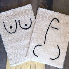 @coldpicnic Private Parts wool rugs are back in stock! We also have torso & boob bath mats  #coldpicnic