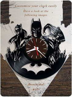 US $39.99 New in Home & Garden, Home Décor, Clocks #batman_catwoman_harley_quinn #vinyl #clock #dc_comics #birthday_present #home_decorating_ideas #holiday_present #gift_ideas #handmade_gift #vinylclock