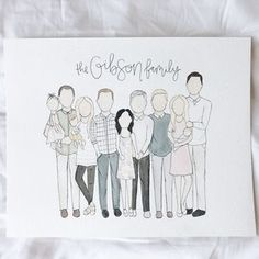 Watercolor Family Portrait