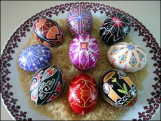 Urkrainian Egg Decorating it's called PYSANKY.