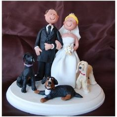 Wedding Cake Topper With Dogs  WCT098
