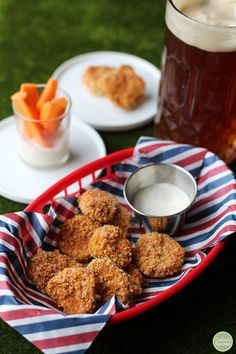 Fried pickles are coated in beer batter and finished with panko bread crumbs. It's the briny appetizer of your salt-lovin' dreams.