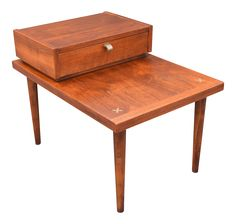 Vintage Mid-Century Modern Step Side Table on Chairish.com