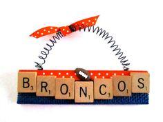 Broncos Football Ornaments