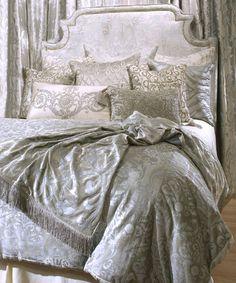 Image Detail for - Versailles Silver Velvet & Silver Bedding | Lili Alessandra