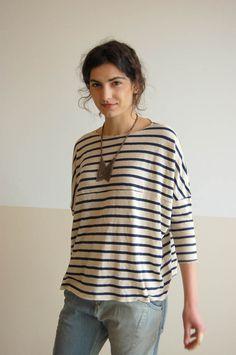 An oversized striped shirt from Una in Portland https://www.facebook.com/remodelista