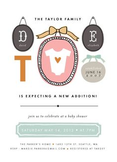 Books to Bottles Baby Shower Invitation Challenge Special Prize Winners