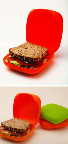 Reusable sandwich box - Great economical and green alternative to sandwich bags