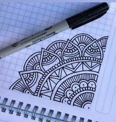 Mandala doodle - New Sites Easy Mandala Drawing, Mandala Doodle, Simple Mandala, Mandala Art Lesson, Doodle Art Drawing, Pencil Art Drawings, Cool Art Drawings, Art Drawings Sketches, Doodle Doodle