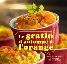 Recette : Gratin d'automne à l'orange