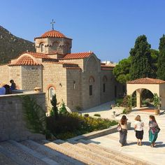 The peaceful convent of Evangelimos #Patmos - on our #cruise with @AzamaraVoyages