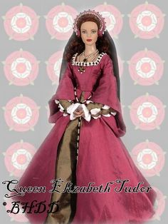 Black Hills Doll Designs - Elizabeth Tudor - daughter of Henry VIII and Anne Boleyn