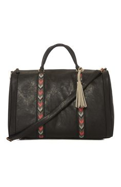 Black Tassel Weekender Bag