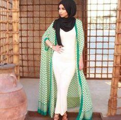 tube white dress with open abaya