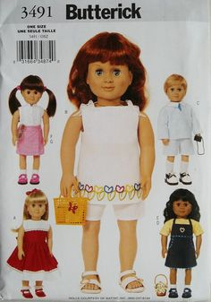 18 inch Doll Clothes Including Boy Doll Butterick 3491 by blue510, $4.00