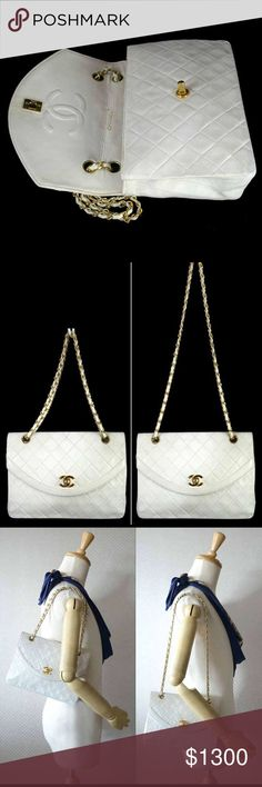 Chanel 100% Auth. Vintage Medium Single Flap Bag This vintage bag is in good condition and the leather was recently refinished professionally. Note due to the age of the bag the leather has stiffened. CHANEL Bags Shoulder Bags