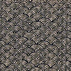 Japanese kimono cotton fabric yukata design inches Unfinished edges Made in Japan This fabrics are already cut into HALF yard. Japanese Textiles, Japanese Patterns, Japanese Fabric, Japanese Prints, Japanese Kimono, Bleu Indigo, Japanese Imports, Japanese Cotton, Half Circle